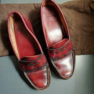 Weejuns Red Penny Loafers